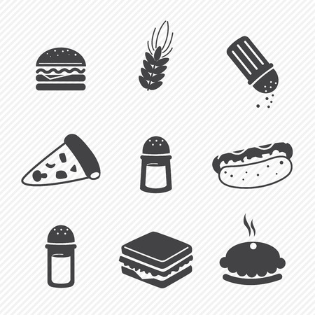 sandwich: fast food icons set isolated on white background Illustration