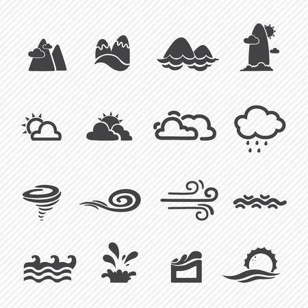 Twister: season icons isolated on white background