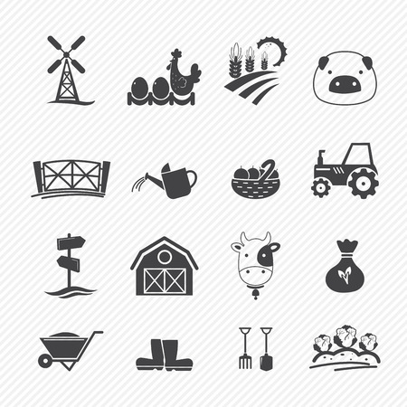 Farm Icons isolated on white background Stock Vector - 22712863
