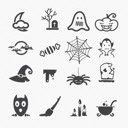 basic candy: Halloween icons isolated on white background