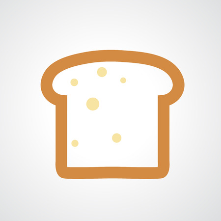 crusty: Bread icon isolated on white background