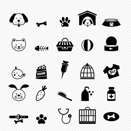 rabbit cage: Dog icons vector