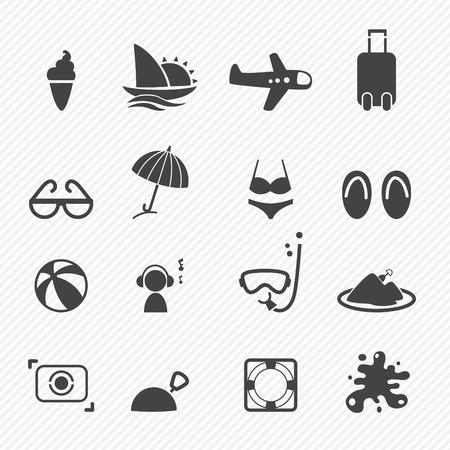 Iconos del verano fijados Foto de archivo - 23112950