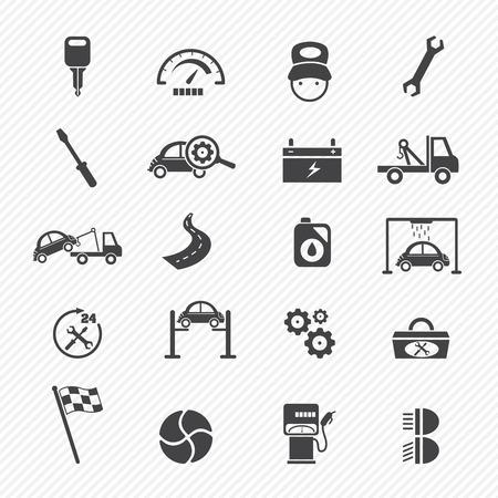 disk break: Car service maintenance icons  Illustration
