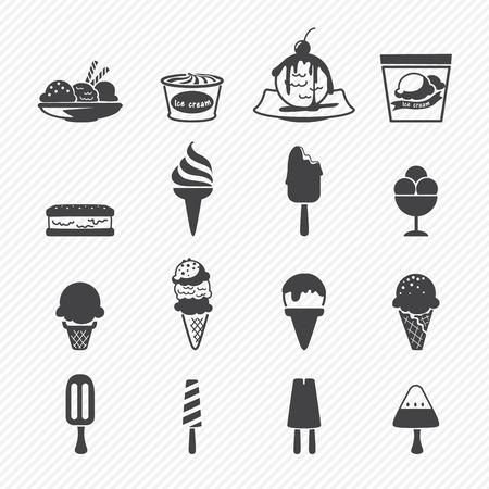 아이스크림 아이콘 일러스트