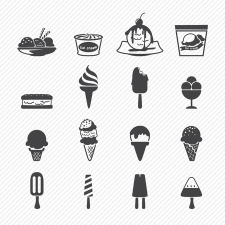 waffle ice cream: Ice Cream icon Illustration