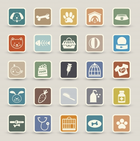 Dog Icons Vektor Illustration