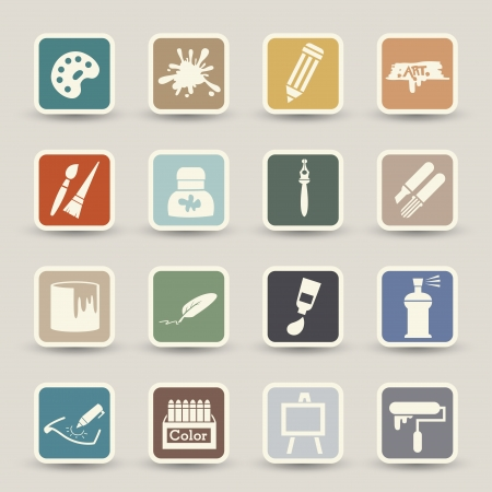 digitizer: Art icons vector Illustration