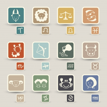 virgo zodiac sign: zodiacal icons
