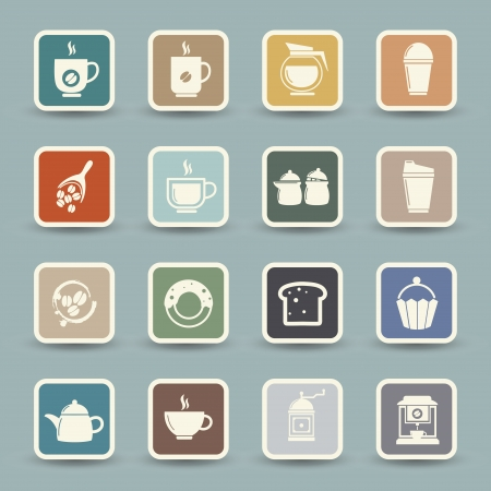 espresso machine: Coffee and tea Icons  Illustration
