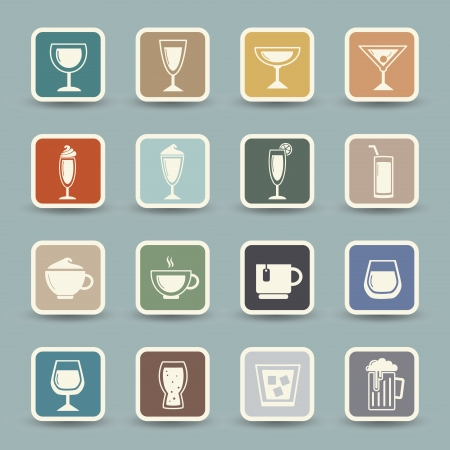 whie wine: Drink icons