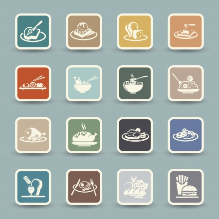 Food Icons Stock Vector - 23893078