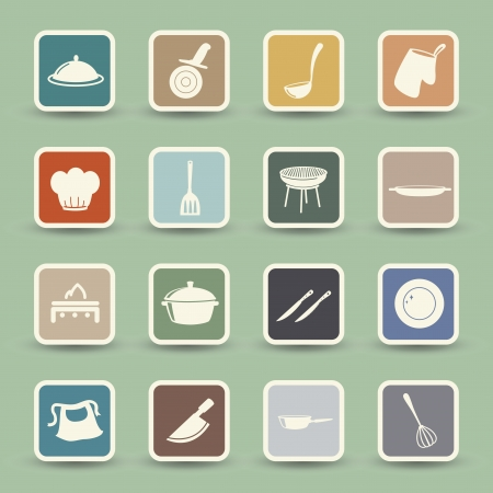 flatware: Kitchen Icons set  Illustration