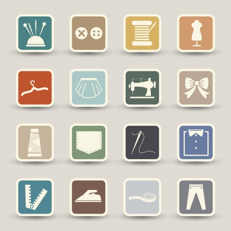 diaper pins: Sewing equipment icons
