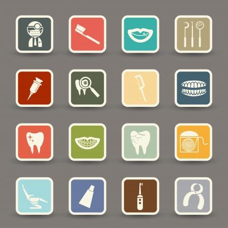 sillon dental: Iconos de Odontolog�a  Vectores