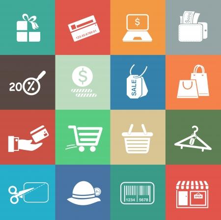 Shopping icons Illustration
