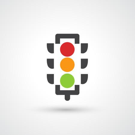 warning lights: Traffic lights icon vector