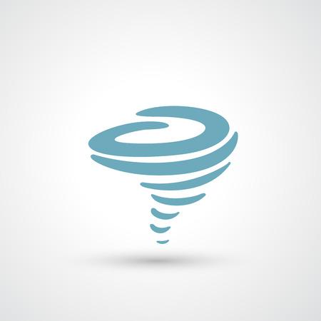 granizo: Viento del icono del vector Vectores