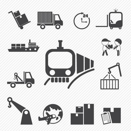 Shipping and Logistics Icons Stock Vector - 25041967