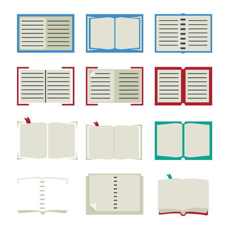 Book icons isolated on white background Stock Vector - 25041980