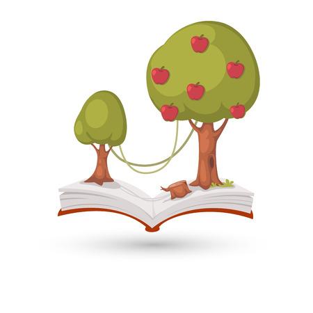L'albero di mele libro Archivio Fotografico - 25462298