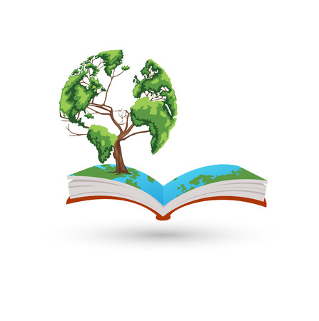 The tree book Vector