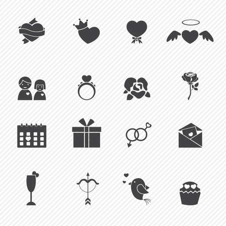gender symbol: Valentine day love icons Illustration