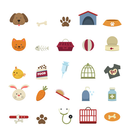 rabbits: Dog icons vector