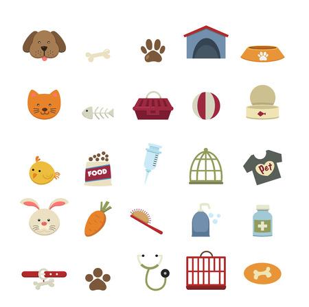 veterinaria: Iconos vectoriales para perros Vectores