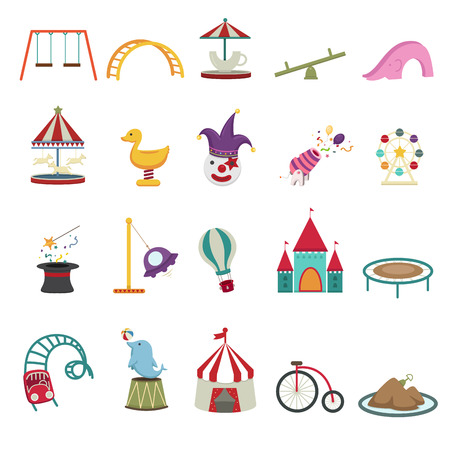 Amusement Park icons Vector