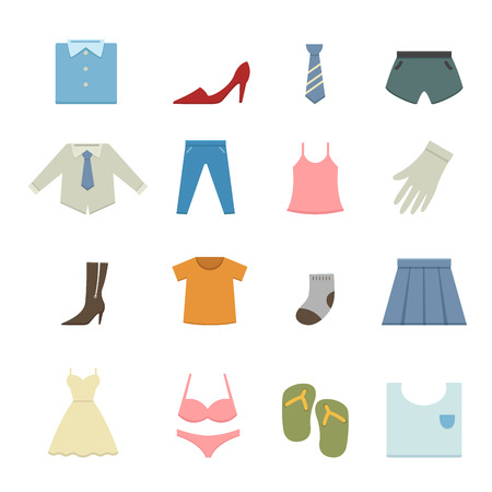 vintage clothing: Clothing icons