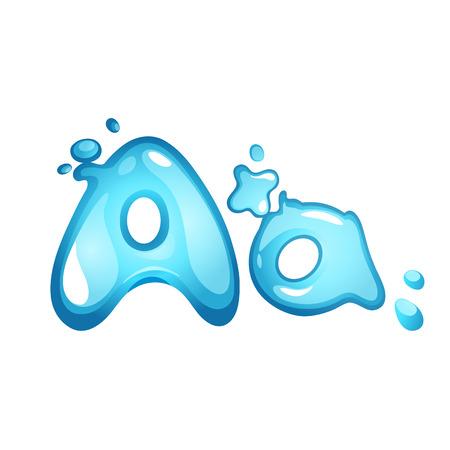 Alphabet water letter A