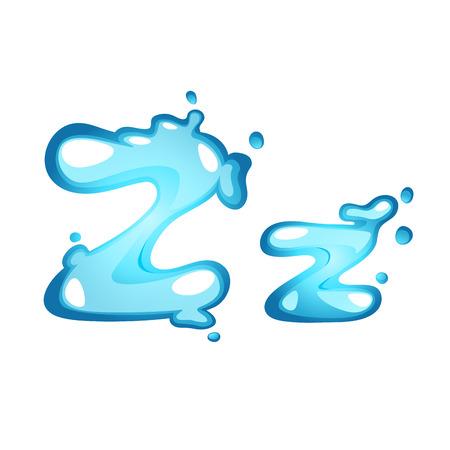 letter liquid water: Carta del alfabeto del agua Z