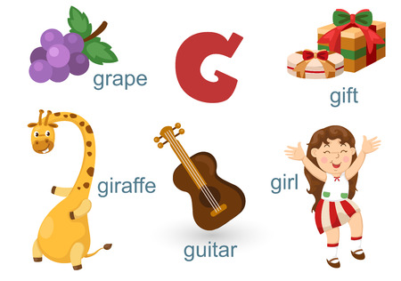 g giraffe: Alphabet G Illustration