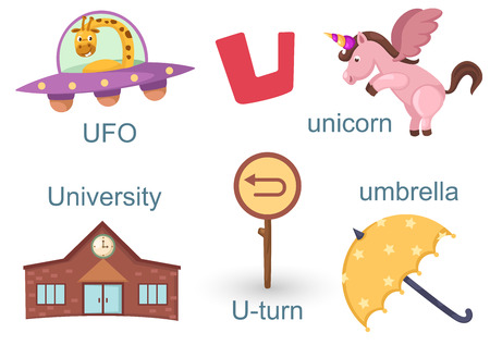 u turn: Alphabet U Illustration