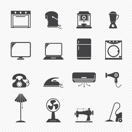 gas stove: electronic home icons Illustration