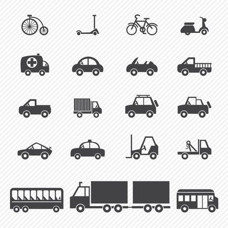 cars racing: transportation icons Illustration