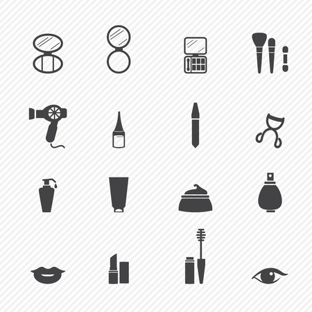 lipstick: Makeup Cosmetic icons Illustration
