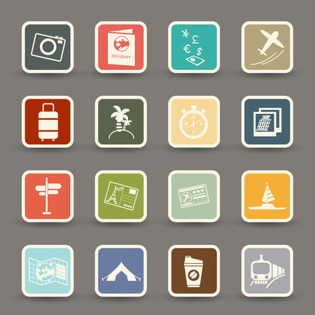 train ticket: Travel icons