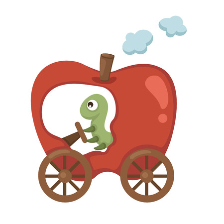 train apple Vector