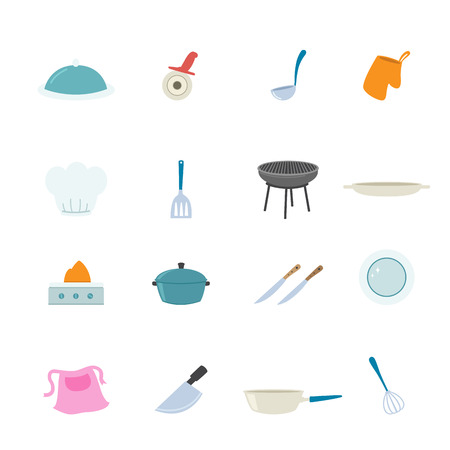 commercial kitchen: Kitchen Icons set