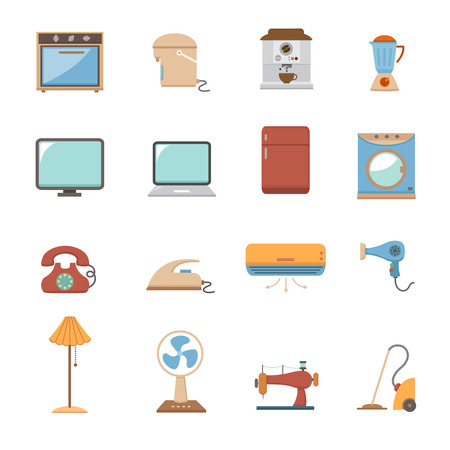 conditioner: electronic home icons Illustration