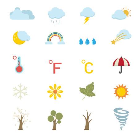 the season: season icons Illustration
