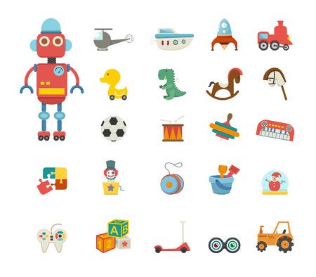 marioneta de madera: Juguetes de iconos de vectores Vectores