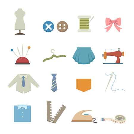 measuring tape: Sewing equipment icons