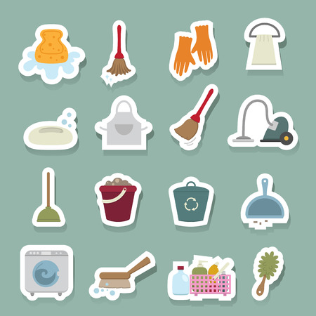 chores: Cleaning icons set