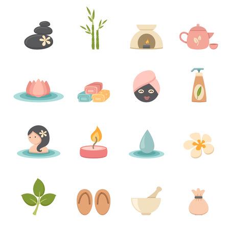 facial massage: Spa icons