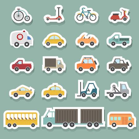 transport icons set Stock Illustratie