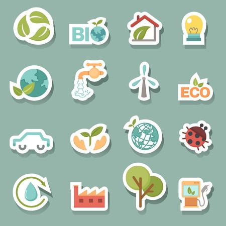 Eco icons set vector Vector