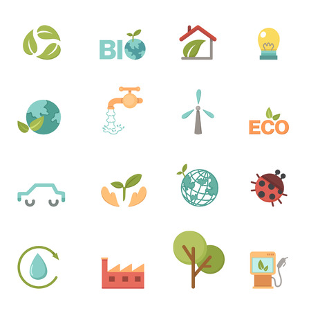 Eco icons set vector Vector